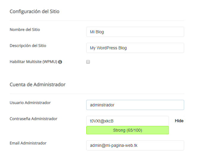 usuario wordpress